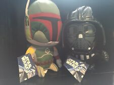 Star Wars Darth Vader And Boba Fett Plush Toy New With Tags!