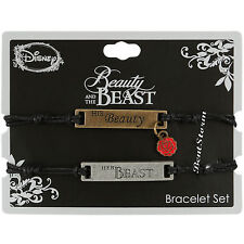 Disney Beauty And The Beast Cord Bracelet Set His Beauty Her Beast Best Friends