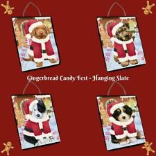 Christmas Gingerbread Candyfest Dog Cat Pet Photo Hanging Slate Home Wall Decor