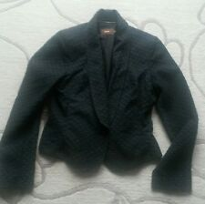 Reiss Black Cotton Jacket Single Button Size 12