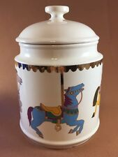 Carnival Carousel Cookie Jar Japan Rare Festive Ponies Horses