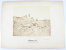 SET OF TWO 13X17 PHOTOS OF THE SIEGE OF STRASBOURG - 1870S