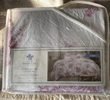 New SIMPLY SHABBY CHIC Blush Bouquet 3 Pc King Duvet Set Lilac Rose