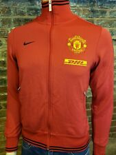 Nike Manchester United Soccer Track Jacket LS Zip Up Red Yellow Mens S