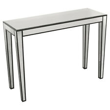 Clear Mirrored Console Table with Black Borders -  Simple and Practical