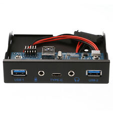 3.5'' USB3.1 Type-C+2 Ports USB 3.0 Hub+Audio to 20 Pin Front Panel Floppy Drive