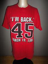 1995 MICHAEL JORDAN - I'M BACK 45 CHICAGO BULLS Shirt LOGO ATHLETIC - Youth Lg.