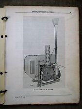 John Deere Wisconsin Y112-618 Engine Parts catalog manual ORIGINAL