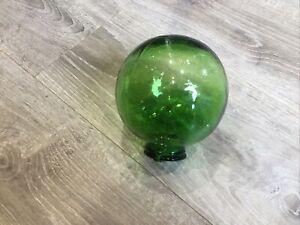 Green Glass Hanging Orb Vase - Macrame Hanging