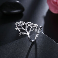 925Sterling Silver Jewelry Large Fashion Ring Woman Ring Open Ring RY935