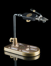 REGAL MEDALLION FLY TYING VISE W/ STAINLESS JAWS & POCKET BRONZE BASE