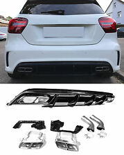 Für Mercedes-Benz A-Klasse W176 A45 AMG Look Heckschürze Stoßstange Diffusor L02