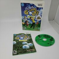 We Love Golf! (Nintendo Wii, 2008) Complete CIB Tested Working Great Condition