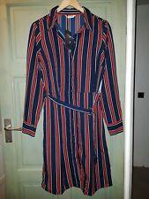BNWT Brave Soul Navy & Red Striped Shirt Dress Retro Vintage Nautical 50s L 14