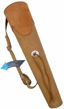 NEW TRADITIONAL SUEDE TANNED BACK ARROW QUIVER ARCHERY PRODUCTS AQ-137.