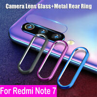 For Xiaomi Redmi Note 7 Back Camera Protector Lens Case Ring Cover + Glass Y1