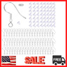 100 PCS/50 Pairs 925 Sterling Silver Earring Hooks Jewelry and HYPOALLERGENIC