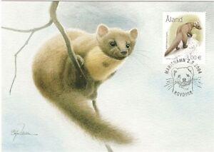 Marten Endangered Animal Winter Aland Island Finland Mint Maxi FDC 2004