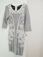 Karen Millen Black And Cream Dress Size 1
