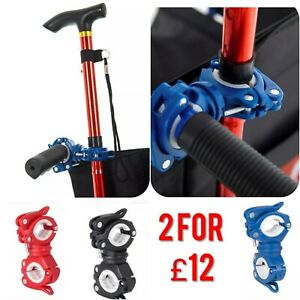 Walking Stick Holder Crutch Holder for Walking Frames or Wheelchairs 2 for £12