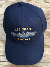 USS Skate SSN-578 Ball Cap Embroidered Submarine Dolphins Veteran Navy Sub Hat