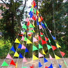 Mix 80M Triangle Flags Bunting Banner Pennant Festival Wedding Party Decor