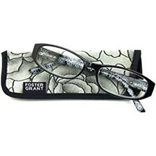 New! Foster Grant Kay Black 1.50 Reading Glasses W/Soft Case.