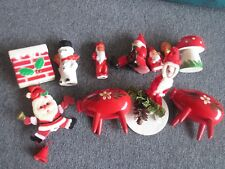 VINTAGE CHRISTMAS CAKE TOPPERS DECORATIONS XMAS