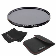 95mm CPL Circular Polarizer Polarizing Glass Filter for Canon Nikon DSLR+Bag+B