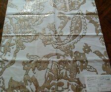 MANUEL CANOVAS Fabric Remnant - ATLANTIS 01 - Metallic Ink on Cotton- ITALY $238