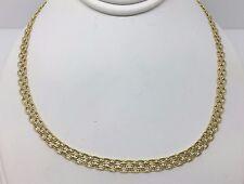 """Vintage 10k Yellow Gold Wheat Bismark Byzantine  4.2 MM Necklace 16"""" Chain"""