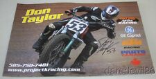 2016 Don Taylor signed Waters AutoBody Racing KTM 450 SX-F AMA Flat Track poster