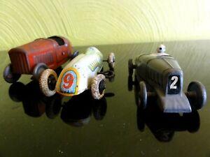 Beau Petit Lot de 3 Voiture en Tôle Rosalie CIJ Bugatti JEP et Autre 10 cm