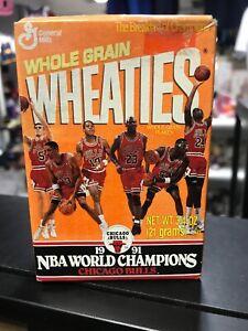 1991 Michael Jordan Chicago Bulls NBA Champions Mini Wheaties Box Sealed 3/4 OZ