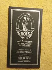Vintage 1929 Noe's Graduated Xercisor Rubber Resistance Workout Band Manual