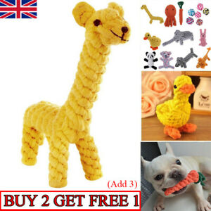 Pet Dog Chew Toys Braided Rope Indestructible Dog Teeth Dental Cleaner Gifts