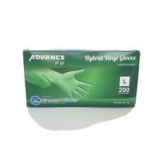 Advance Diamond If20 Vinyl Hybrid Gloves 200 count gloves P/box