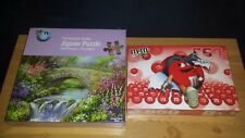 2 x Sealed Puzzles 550 Piece M & M's (indented box) and 1000 Piece Summer Bridge