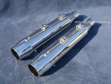 Chrome  DNA Mufflers Slip On Harley Sportster 14-19 Exhaust Pipes XL1200 XL 883