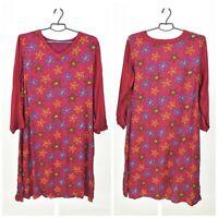 Womens Gudrun Sjoden Tunic Dress Multicolor Stars Printed Oversized Size M