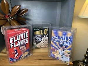 Hull HULL-O's, Warner's Crunch Time, Flutie Flakes, CEREAL COLLECTORS SOUVENIRS