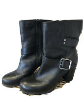 Nine West Black Leather Boots Size 10 Womens
