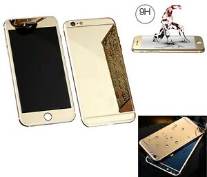 9H Front and Rear Tempered Glass Screen Protector for Apple iPhone 6/6S, Gold