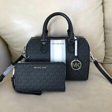 Michael Kors Signature Black Bedford Small Duffle Satchel Bag MK