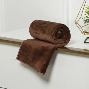 Warm Soft Plain Fleece Blanket Plush Throw Over Large Decorative For Sofa Bed