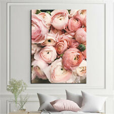 Pink Rose Decorative Painting Flower Poster Canvas Print Wall Picture Home Decor