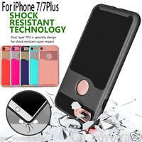 Hard Bumper Hybrid Shockproof Silicone Skin Phone Case Cover for iPhone 7/7Plus