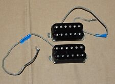 Gibson 500T and 496R Humbucker Pickup Set Ceramic Black Lot 1 Hot & Super