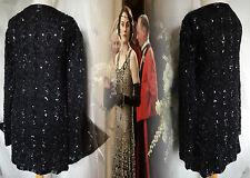 Vintage Jacket Gatsby Downton Edwardian Victorian 20s 30s Silk Bead 18 46 US 14