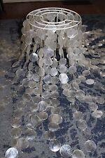 New Pottery Barn teen capiz floor lamp white (a few shells cracked)